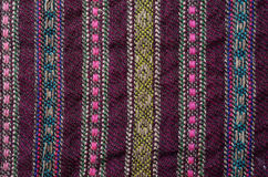 Close-up of the homespun woolen Royalty Free Stock Photography