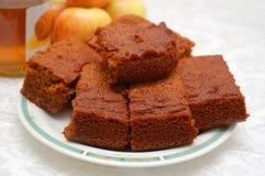 Close up of honey cake Royalty Free Stock Photo
