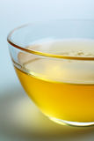 Close-up honey in glass bowl. Close-up glass bowl with floral honey stock images