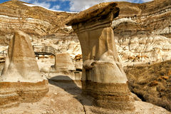 Close-up Hoodoos Drumheller valley Royalty Free Stock Photos