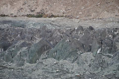 Close up of Hoper Glacier in Hoper Valley,Pakistan Royalty Free Stock Photo