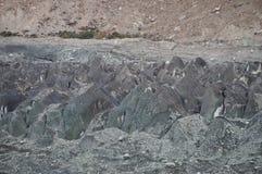 Close up of Hoper Glacier in Hoper Valley,Pakistan Royalty Free Stock Photo