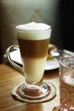 Close up hot cappuccino Royalty Free Stock Image