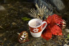 Close up of hot coco Royalty Free Stock Image