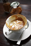 Close up hot latte Royalty Free Stock Photo