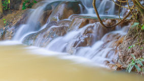 Close-up hot waterfall  at province south krabi Royalty Free Stock Photography