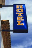 Close up of Hotel Sign Royalty Free Stock Photo
