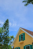Close up of  house rooftops Stock Photo