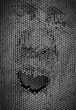 Close up of human face concept made from pin board toy Stock Image