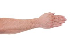 Close-up of human palm hand Royalty Free Stock Photo