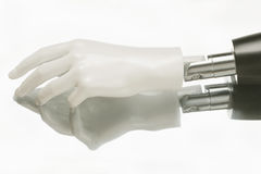 Close-up of humanoid robot hand Royalty Free Stock Images