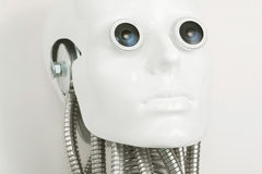 Close-up of humanoid robot head Stock Image