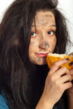 Close up of hungry beggar Stock Photography