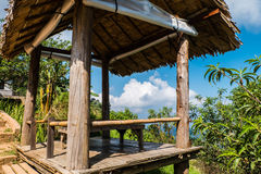 Close up Hut shelters for views Mon Jam, Chiang Mai Stock Photo