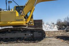 Komatsu Excavator details Stock Photography