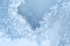 Close-up ice-bound water surfa Royalty Free Stock Photo
