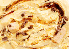 Close Up of Ice Cream with Chocolate Swirl Stock Photography