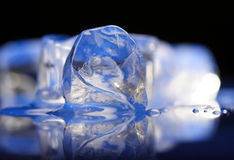 Close up of ice cubes Royalty Free Stock Photography