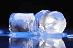 Close up of ice cubes Royalty Free Stock Photos
