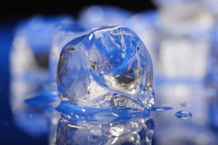 Close up of ice cubes Stock Photo