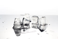 Close-up ice cubes,melt Royalty Free Stock Images