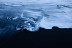 Close up of ice fragment Royalty Free Stock Photos