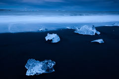Close up of ice fragment Stock Image