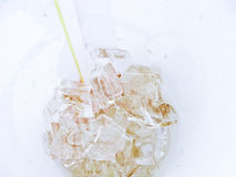 Close-up of ice inside cup of coke Stock Photography