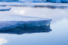 Close up Ice on the lake Iceland winter season Stock Photography