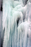 Close-up of icicles. Made by little waterfall Stock Photography
