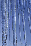 Close up of icicles against blue sky. Stock Image
