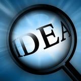 Close up on 'idea' royalty free illustration
