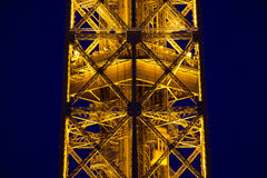 Close-up of illuminated Eiffel Tower Royalty Free Stock Photography