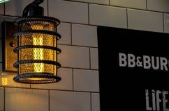 Close-up of Illuminated Lamp Royalty Free Stock Photography