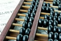 Close up image of abacus Stock Image