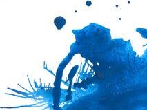 Blue Paint Splatter royalty free stock images
