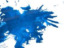 Blue Paint Splatter royalty free stock photos