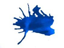 Blue Paint Splatter stock images