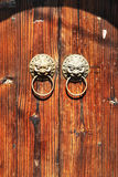 Close-up image of ancient doors stock photos