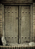 Close-up image of ancient doors Royalty Free Stock Images