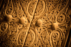 Close-up image of ancient doors Royalty Free Stock Photography