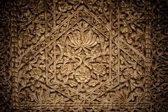 Close-up image of ancient doors with oriental ornaments, Uzbekistan Royalty Free Stock Images