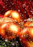 Close-up image of beautiful Christams balls Stock Images