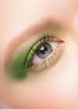 Woman eye with green makeup Royalty Free Stock Photo