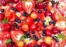 Close up image of berries, fruit background Stock Photos