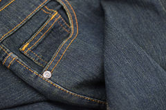 Close up image of blue Jeans pocket background Stock Photos