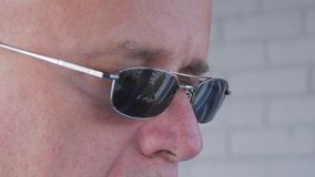 Image with a Confident Businessman Wearing Sunglasses royalty free stock photo