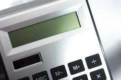 Close up image of calculator with screen Royalty Free Stock Images