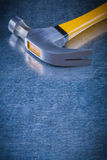Close up image of claw hammer on scratched vintage Royalty Free Stock Photo