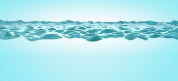 Close up image of clear and blue water stock photo